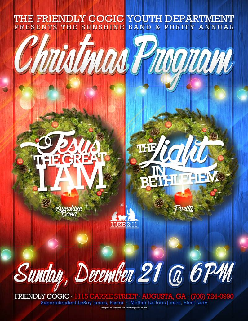 Youth Department Annual Christmas Program | The Friendly Church of
